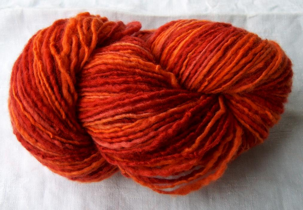 Rot Orange 100% Merinowolle ca. 100g