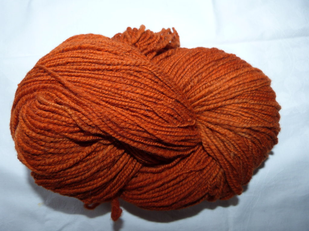 Merino orange uni ca. 100g